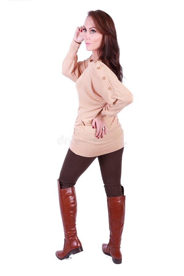 美好的女孩姿势 免版税库存图片