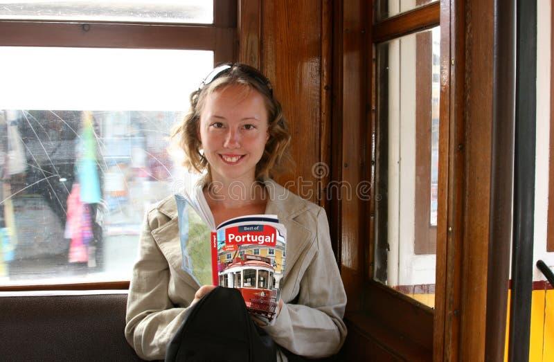 美好的女孩指南旅行 免版税库存照片