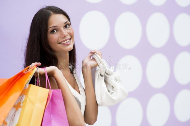 美好的女孩购物 免版税库存照片