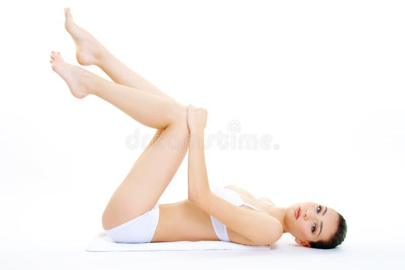 美好的女孩身体护肤概念 免版税库存照片