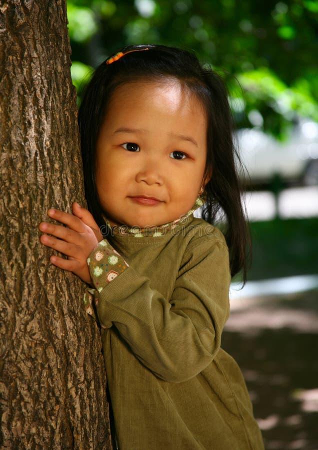 美好的女孩韩文 库存图片