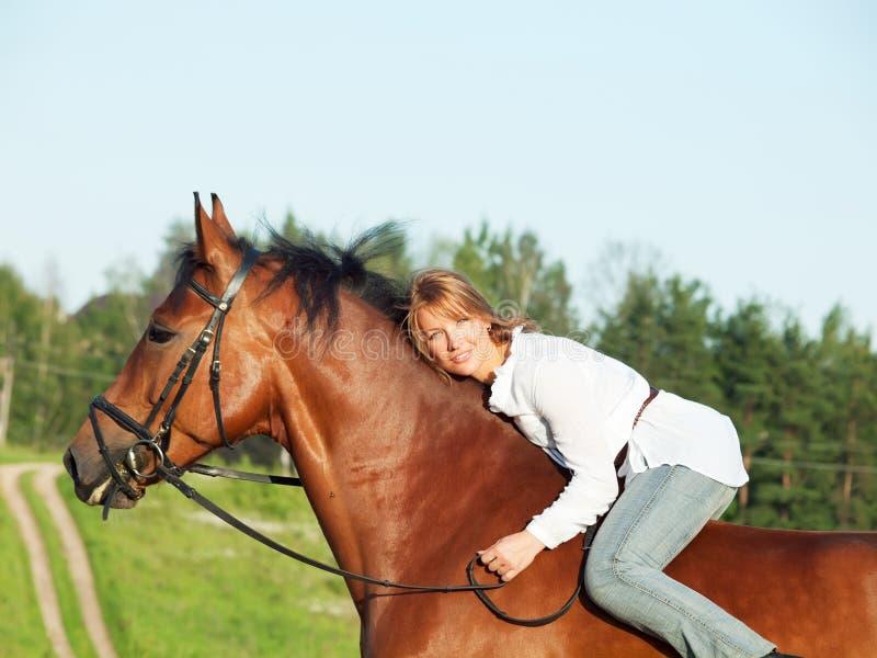 美好的女孩马骑术 库存照片