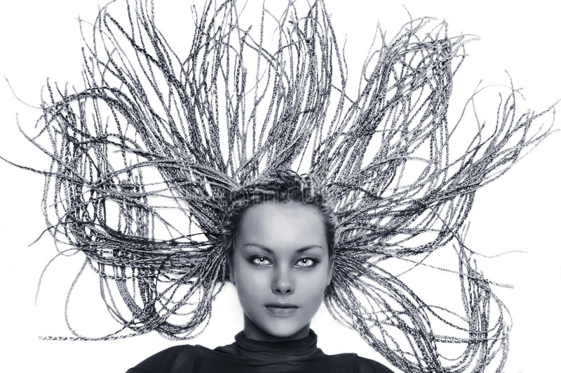 美好的女孩hairdress 库存照片