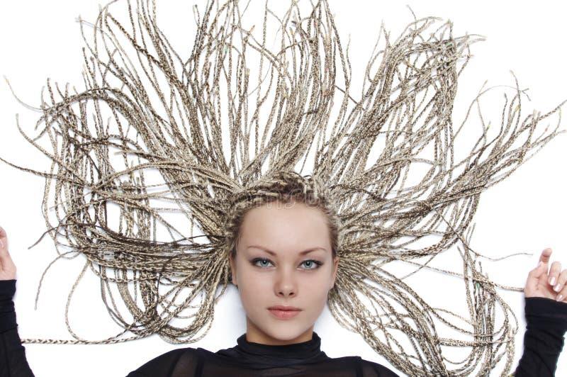 美好的女孩hairdress 库存图片