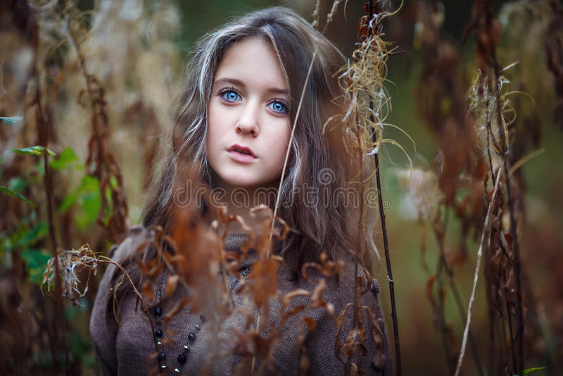 美好的女孩portrait 图库摄影