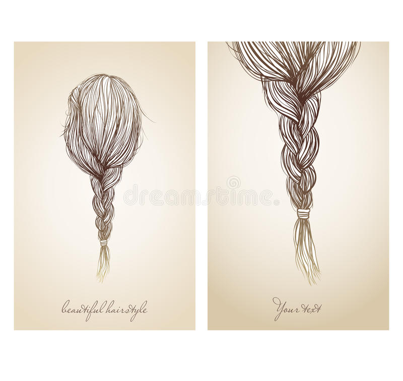 美好的女性发型的传染媒介例证 皇族释放例证