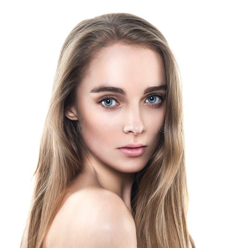 美好的女性模型魅力画象  免版税库存照片