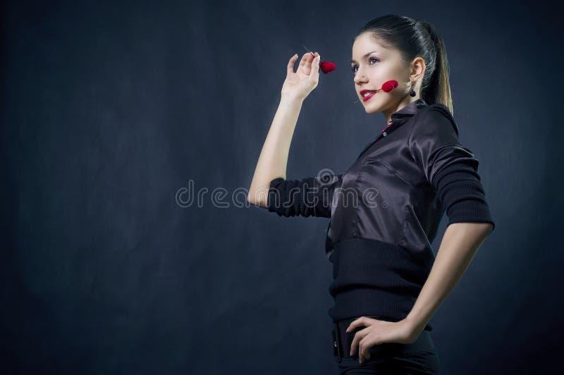 美好的女性重点 图库摄影