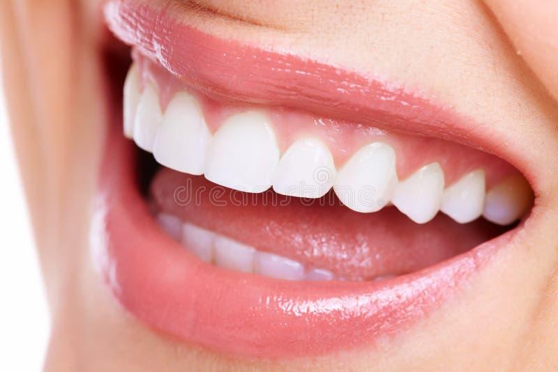 美好的妇女微笑。 免版税库存照片