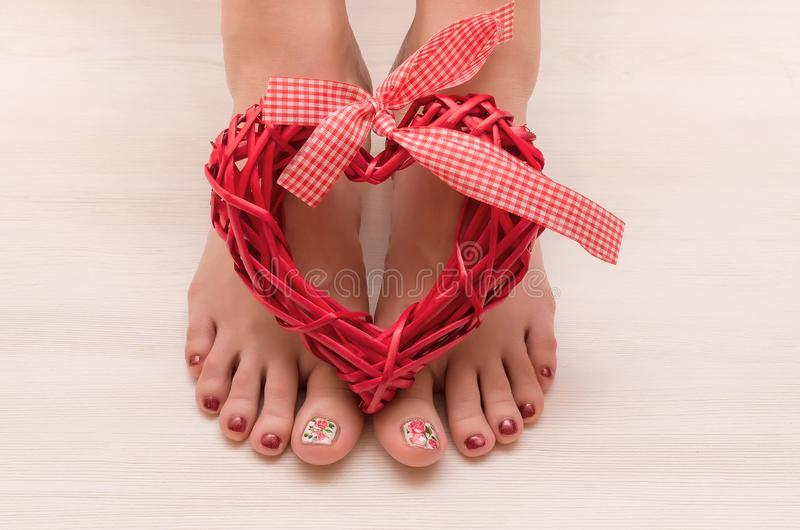 美好的妇女脚修脚  免版税库存图片