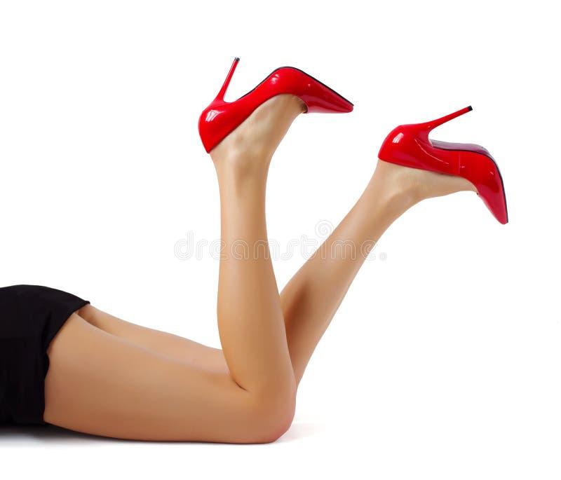美好的妇女腿 免版税图库摄影