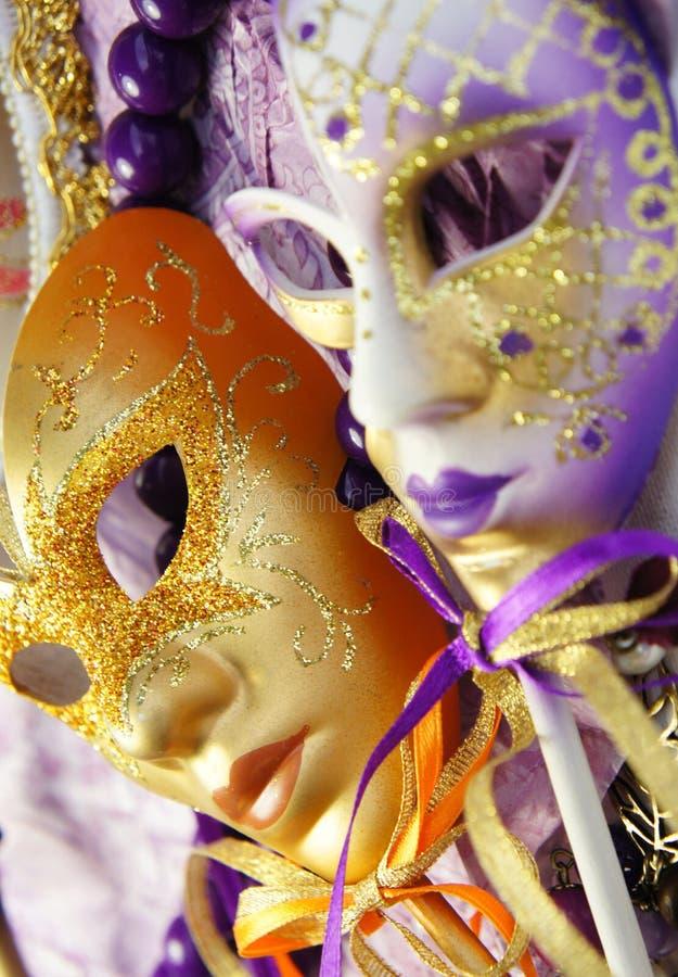美好的威尼斯式狂欢节面具 库存图片