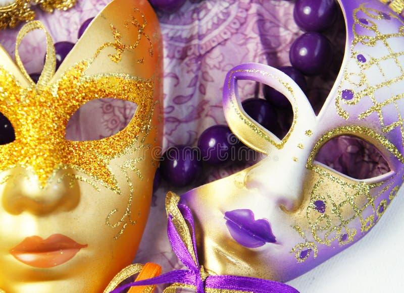 美好的威尼斯式狂欢节面具 免版税图库摄影