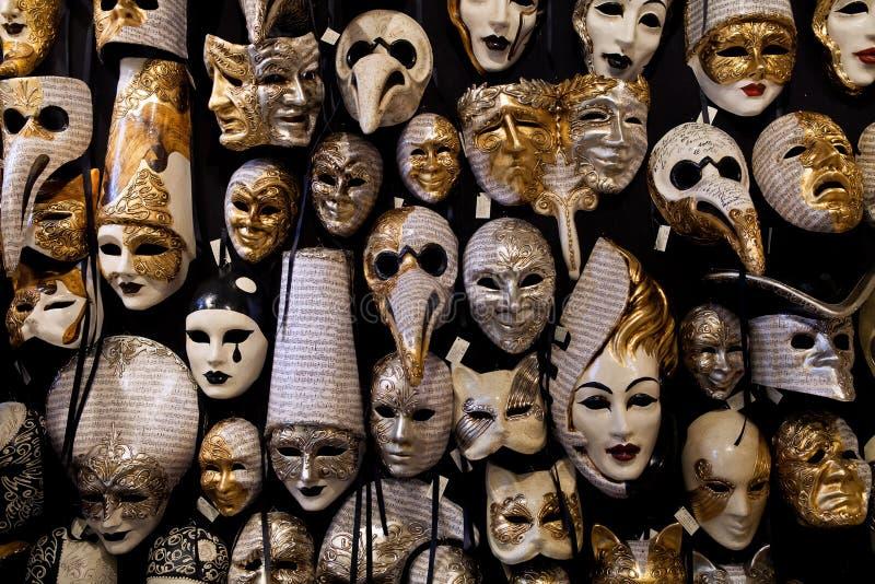 美好的威尼斯式面具背景 免版税库存照片