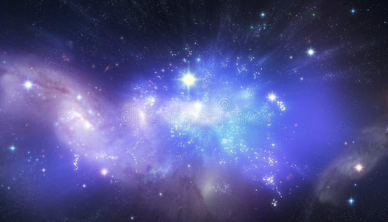 美好的宇宙背景 皇族释放例证