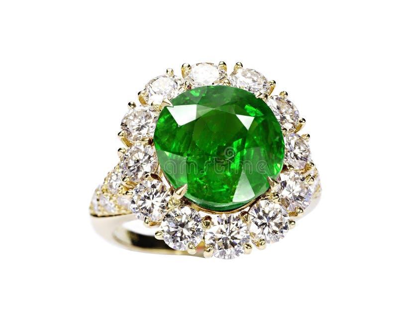 美好的宝石绿色环形 免版税图库摄影