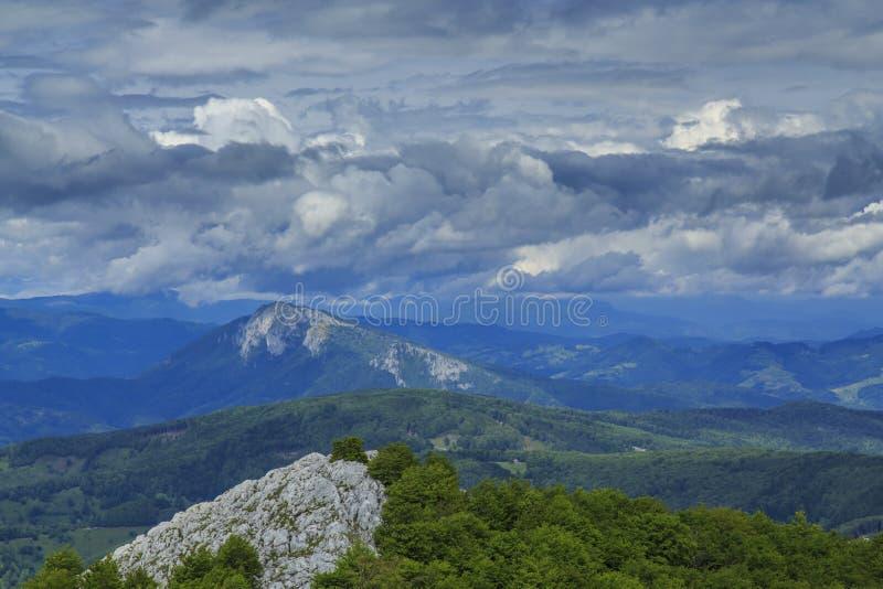 美好的山风景在阿尔卑斯 免版税库存图片
