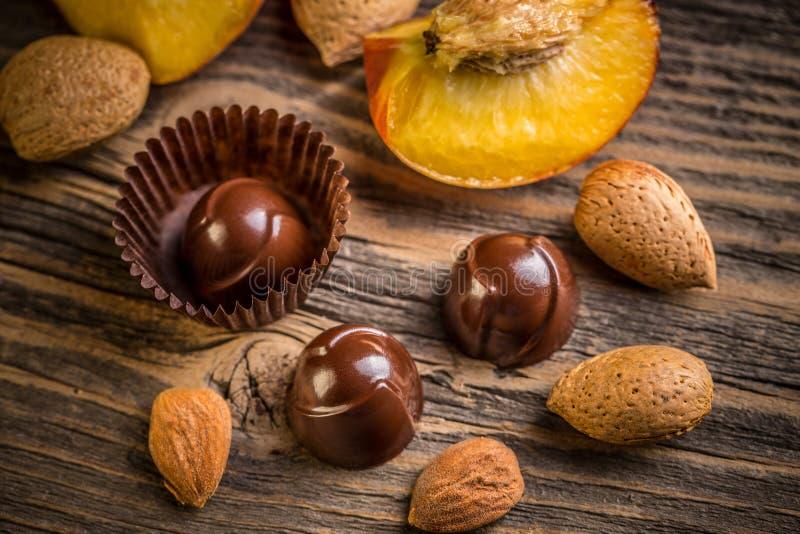 美好的巧克力糖果 图库摄影