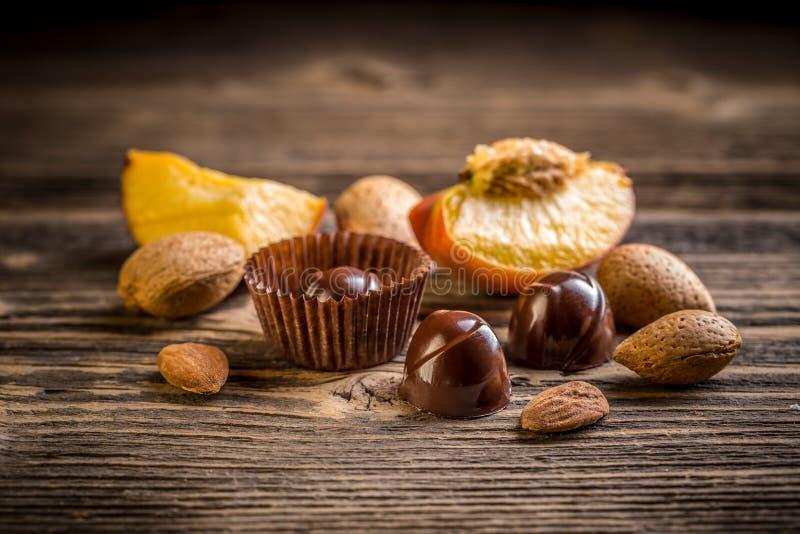 美好的巧克力糖果 库存照片