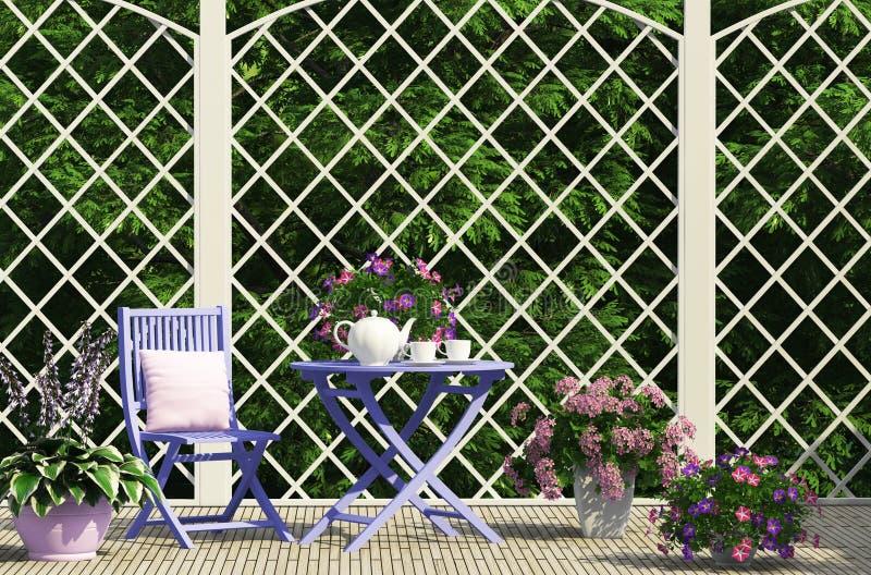 美好的庭院构成 免版税库存图片