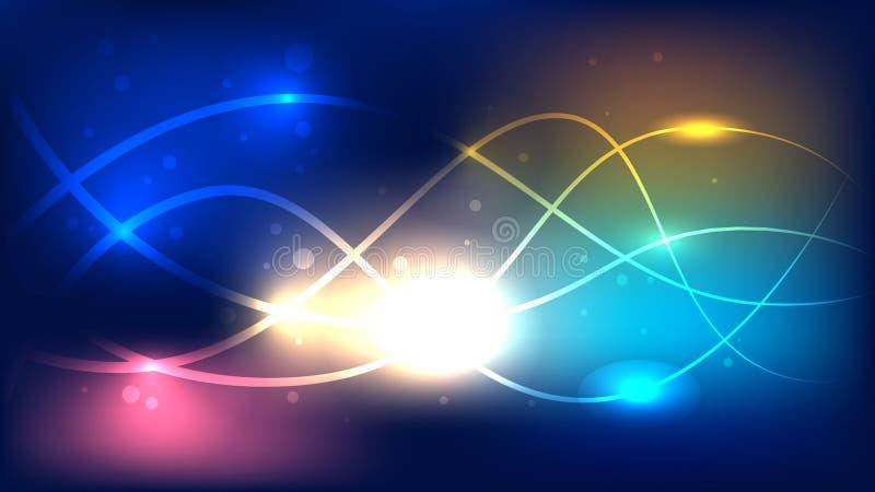美好的彩虹线摘要现代挥动的背景 向量例证