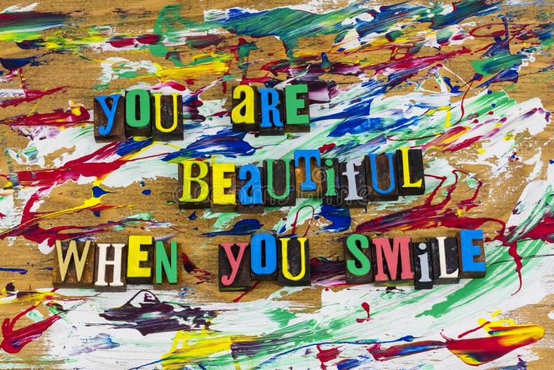 美好的微笑个性幸福 免版税图库摄影