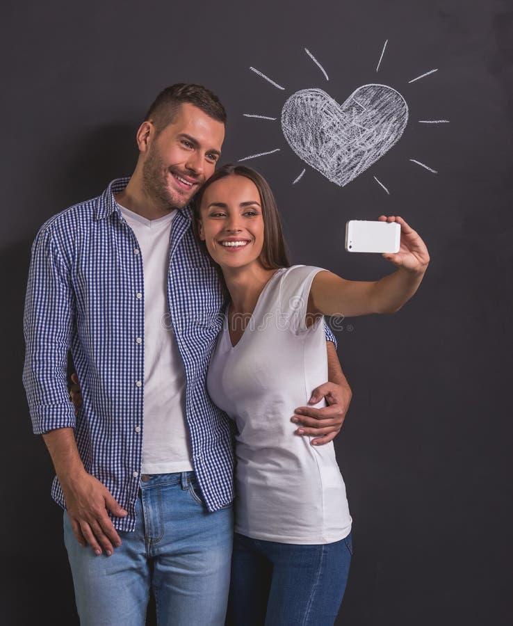 美好的情感夫妇 免版税库存图片