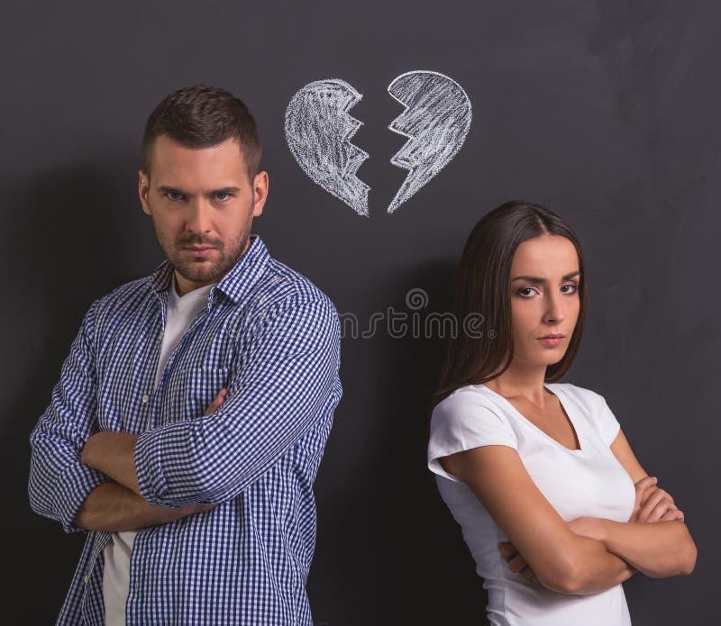 美好的情感夫妇 免版税库存照片