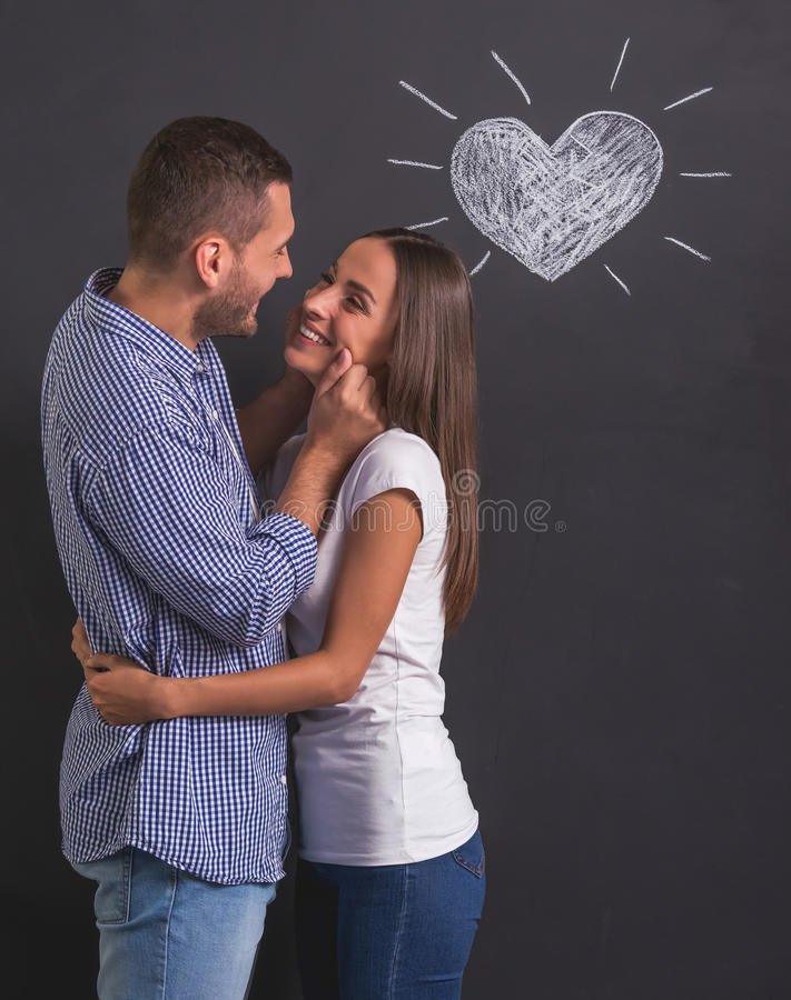 美好的情感夫妇 图库摄影