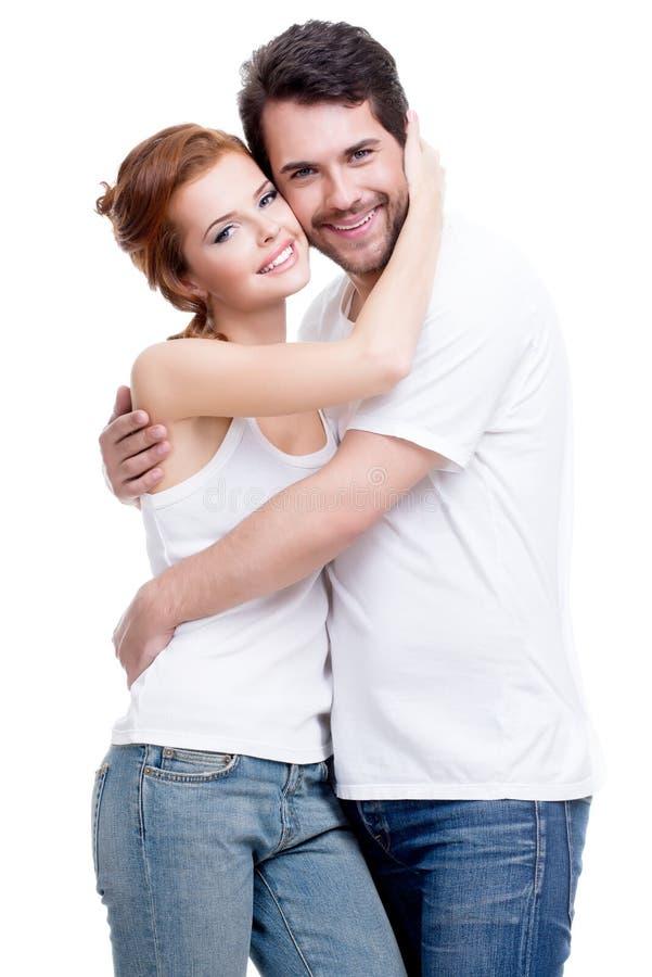 美好的愉快的年轻夫妇。 免版税库存图片