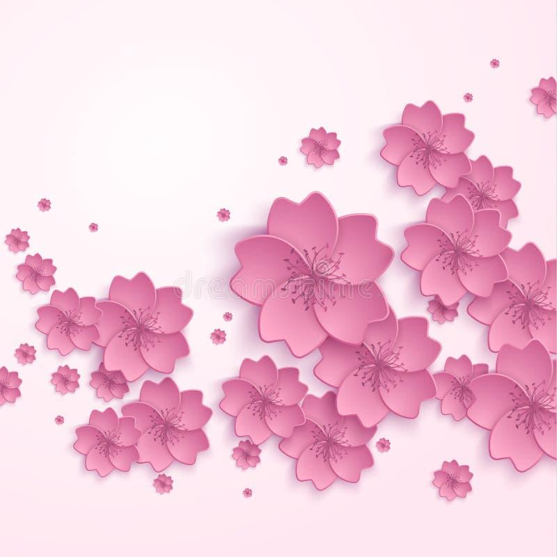 美好的抽象花卉时髦背景与 皇族释放例证