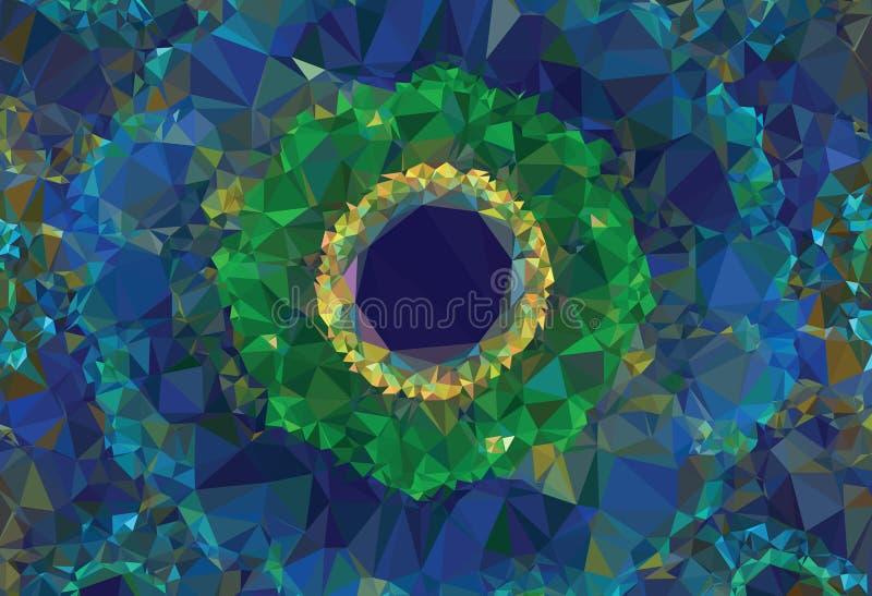 美好的抽象蓝色传染媒介背景 免版税库存照片