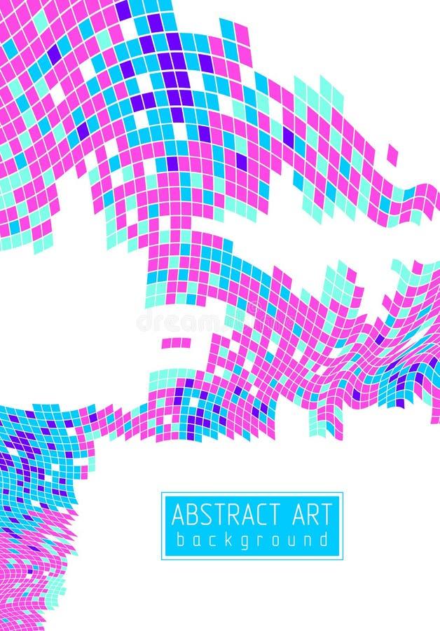 美好的摘要3d传染媒介马赛克背景,艺术性的geometr 库存例证
