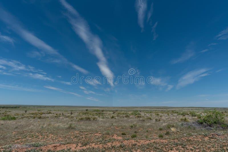 美好的新墨西哥原野远景 库存图片