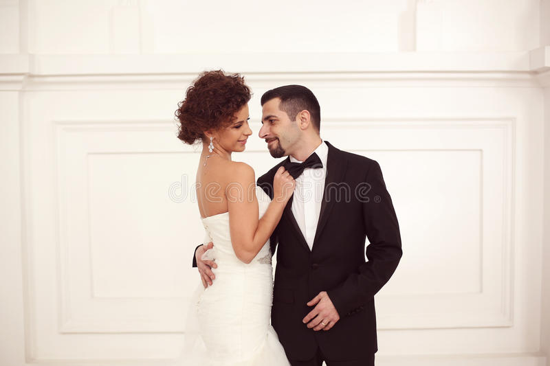 美好的新娘夫妇 免版税库存图片