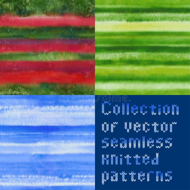 美好的无缝的传染媒介被编织的样式的汇集 皇族释放例证