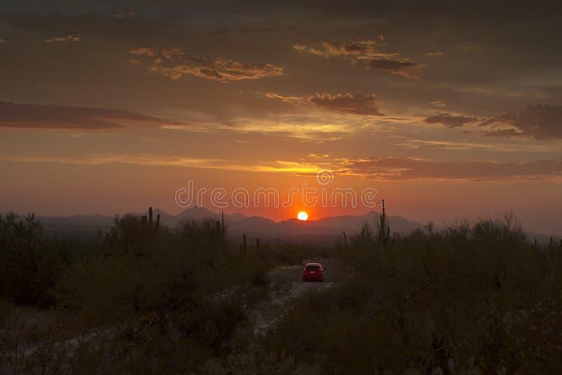 美好的日落亚利桑那 免版税图库摄影