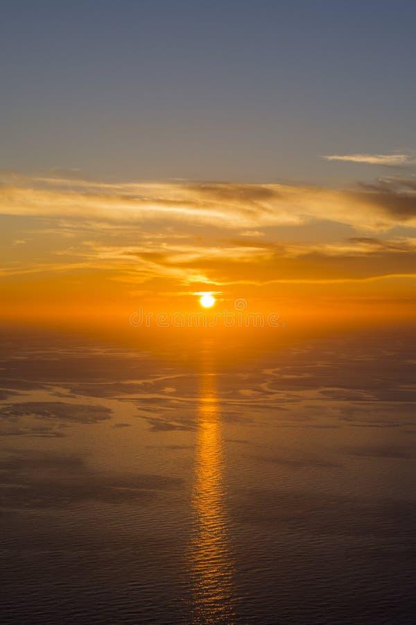美好的日落的简单的射击在科孚岛希腊 库存照片