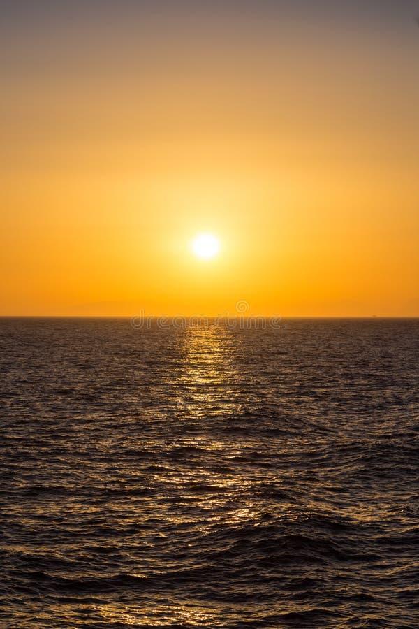 美好的日落/日出风景看法  免版税库存照片