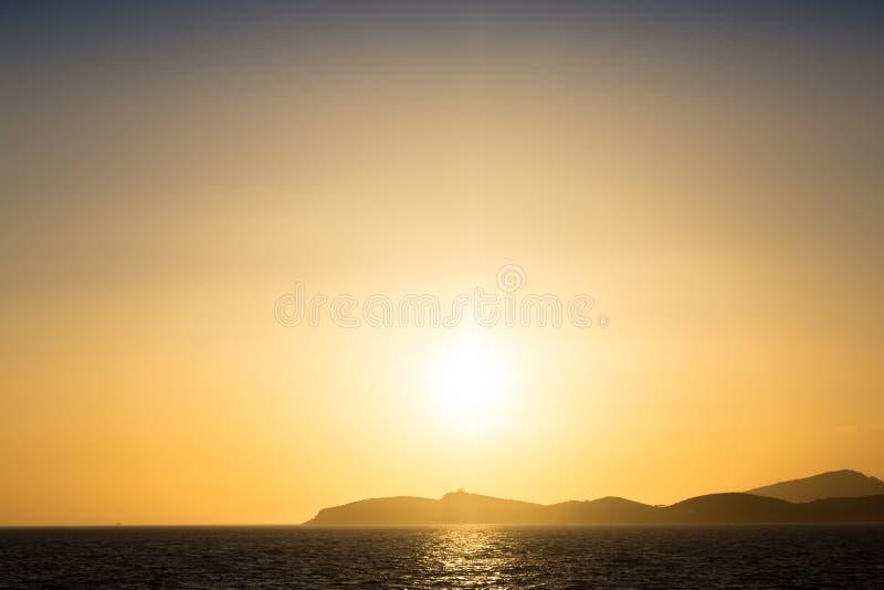 美好的日落/日出风景看法  图库摄影