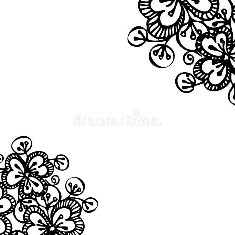 美好的明亮的花卉无缝的样式 库存例证