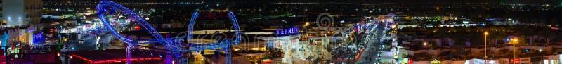 美好的晚上全景从上面纳马海湾, Sharm El谢赫,埃及普遍的区域  免版税库存图片
