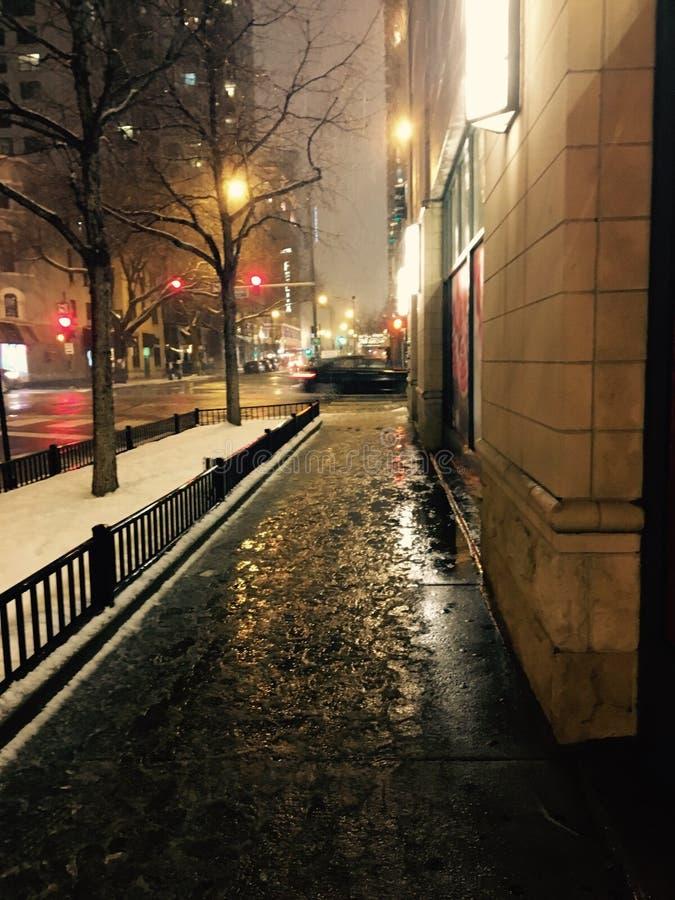 美好的晚上冬天 库存照片
