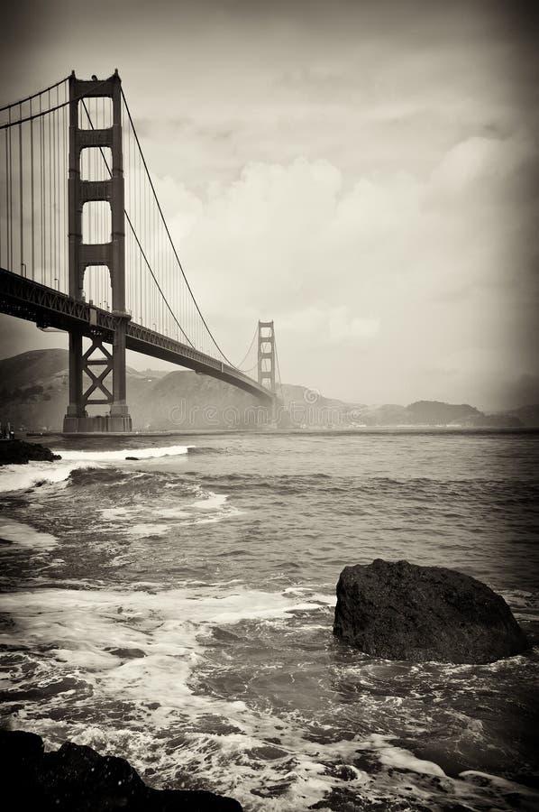 美好的桥梁弗朗西斯科门金黄圣 图库摄影