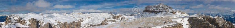 美好的横向山冬天 免版税库存照片