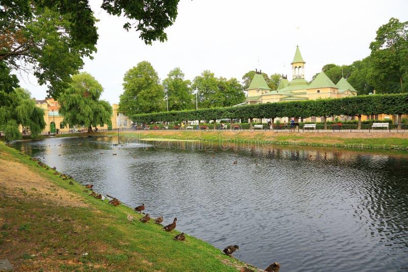 美好的横向视图 乌普萨拉,瑞典,欧洲 免版税库存照片
