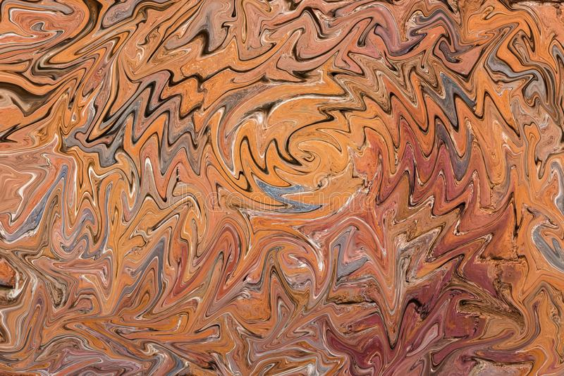 美好的水平的摘要纹理棕色橙黄灰色桃红色红色 图库摄影