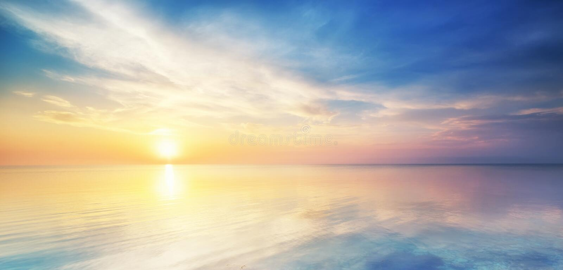 美好的海景。 免版税库存照片