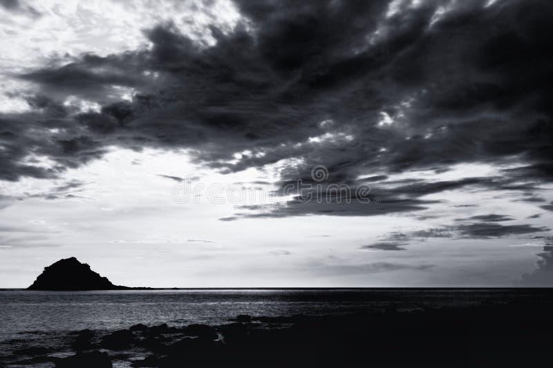 美好的海景场面 图库摄影