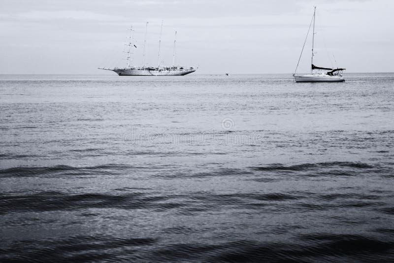 美好的海景场面 库存图片